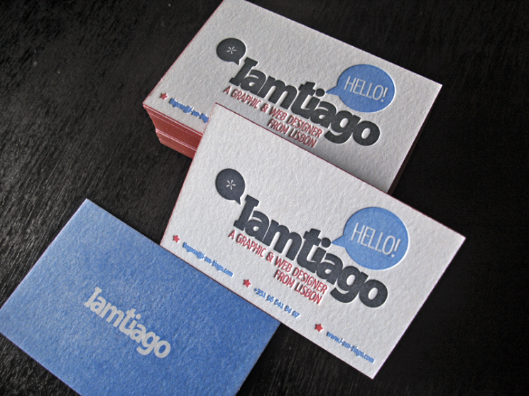 I am Tiago - Letterpress business card