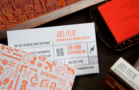 The Lab - Rubber Stamp business cards