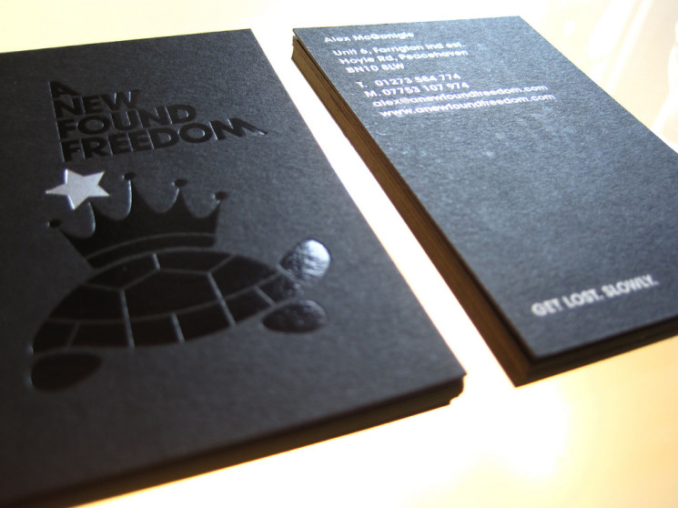 freedom - foil business cards