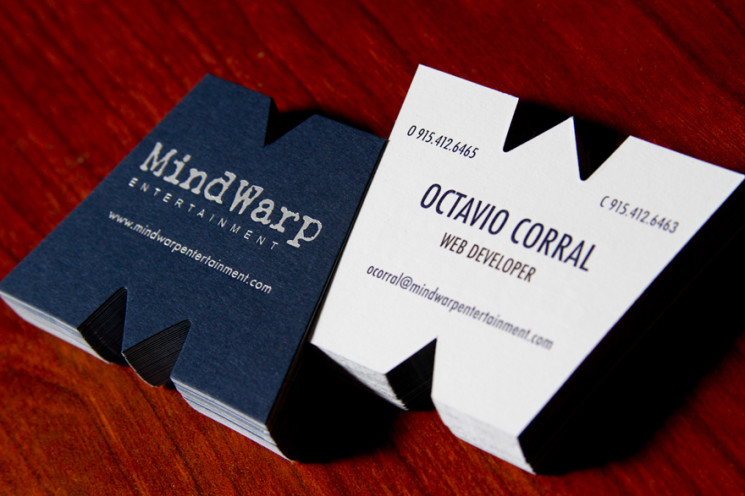 Mind Warp - die-cut business cards