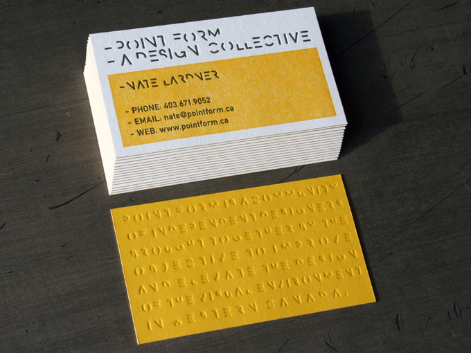 Point Form - letterpress business card