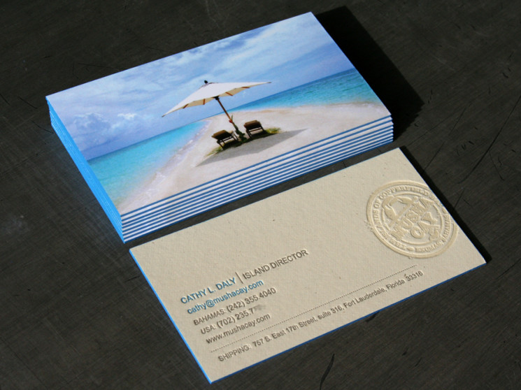 Cathy L Daly - letterpress business cards