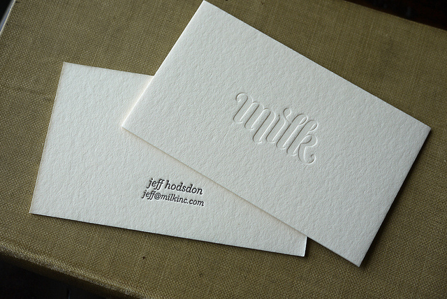 Jeff Hodson - Letterpress business card