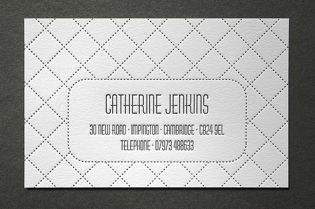catherine jenkins - letterpress business card