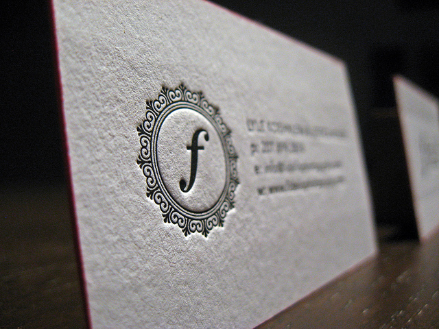 Fidelio Photography - letterpress business cards
