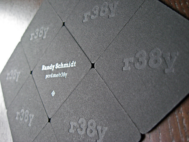 Randy Schmidt - letterpress business cards