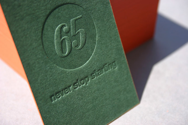 65 - letterpress business cards