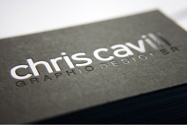 Chris Cavill Design - blind embossed business cards