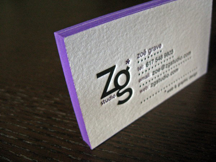 20 Clean And Creative Letterpress Business Cards