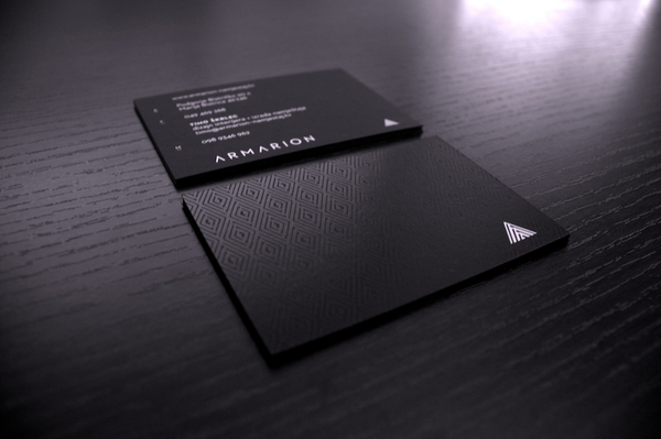 Armarion - spot UV business card