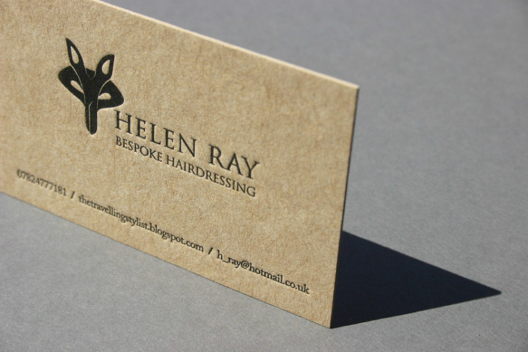 Helen Ray - recycled business card