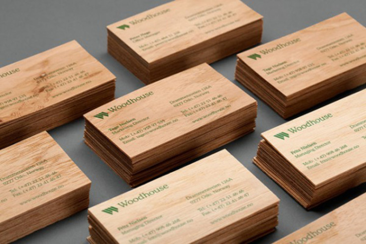 17 Thick Wooden Business Cards