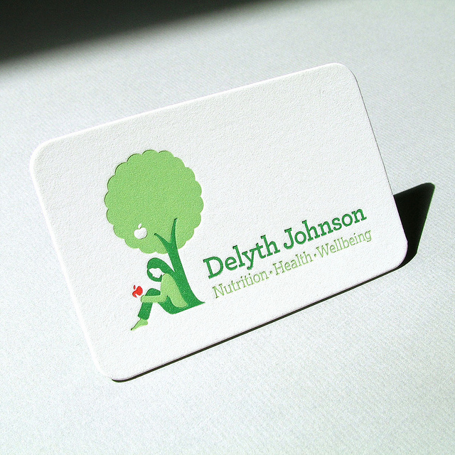 Delyth Johnson - die-cut business card