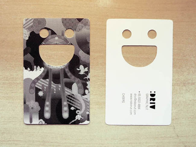 Smiley - die-cut business cards