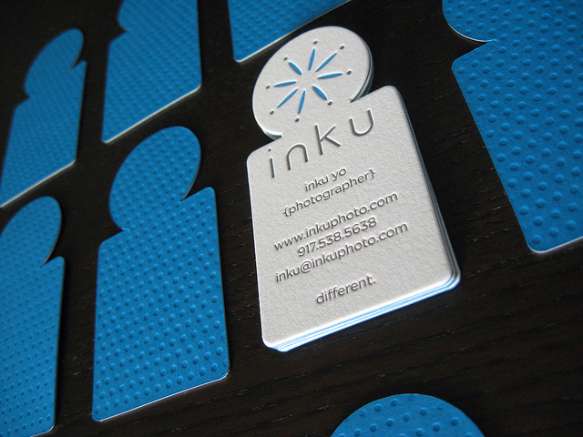 Inku - die-cut business card