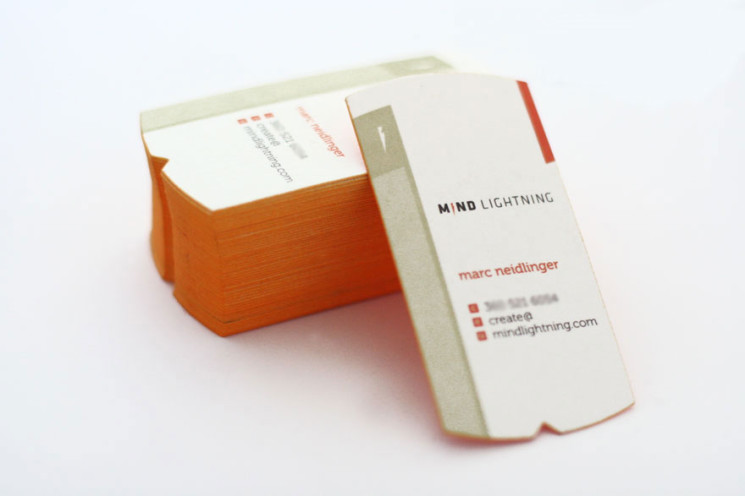 Marc Neidlinger - die-cut business cards