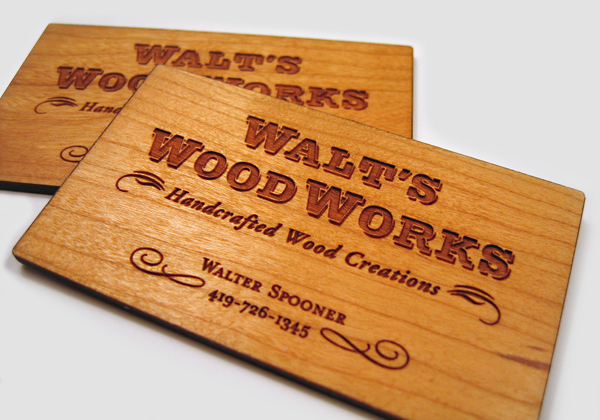 17 Thick Wooden Business Cards | Business Card Design Inspiration