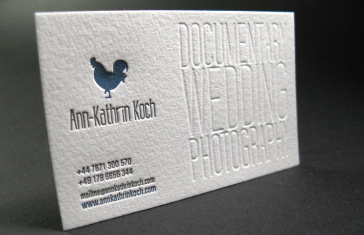 Ann-Kathrin Koch - debossed business card