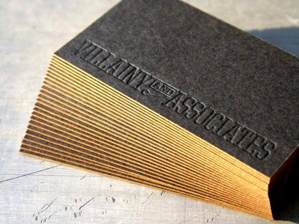 20 brilliant edge painted business cards business card for Brilliant business cards