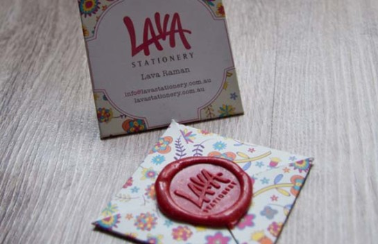 Lava - square business card