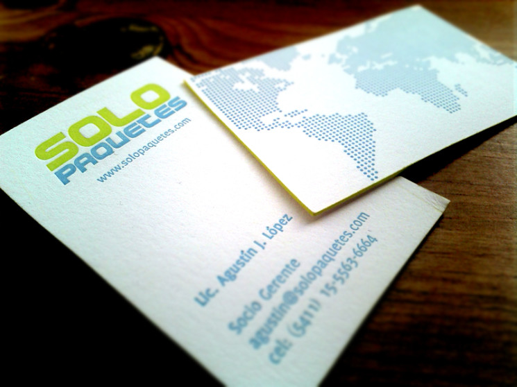 Solo Paquetes - edge painted business cards
