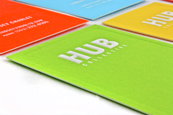 Hub - embossed business cards