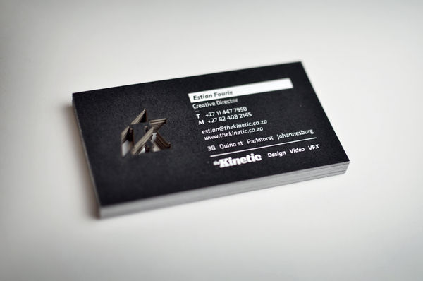 Kinetic - die-cut business cards