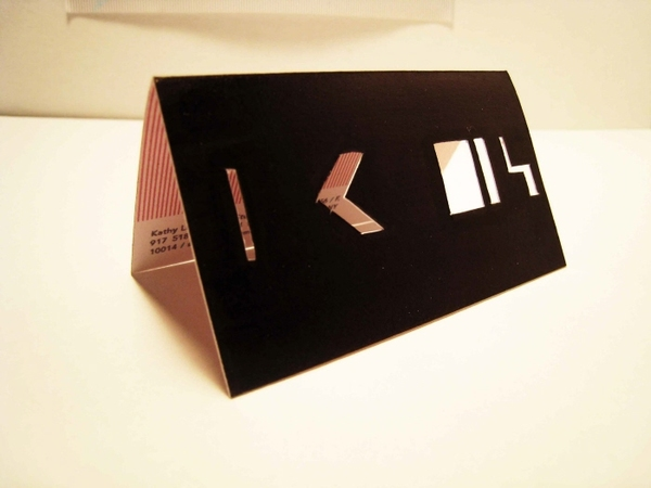 Kathy Lam's - die-cut business cards