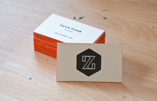 Zach Fuhr - edge painted business cards