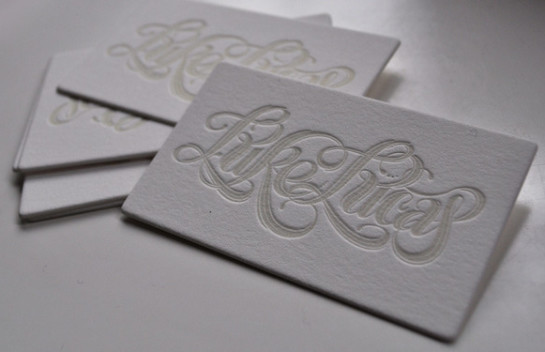 Luke Lucas - letterpress business cards