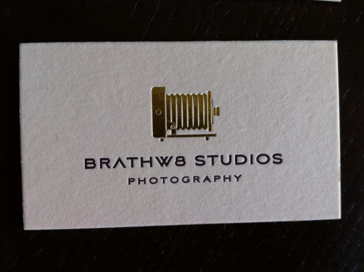 Brathw8 Studios - duplexed business cards