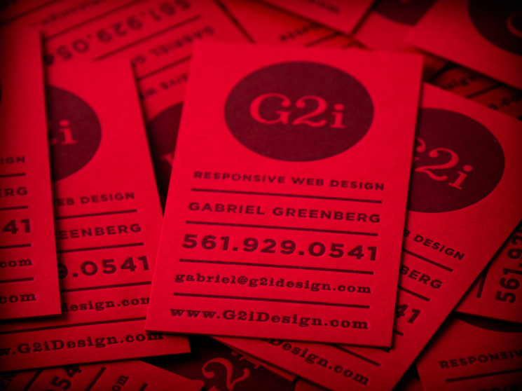 G2i - letterpress business cards