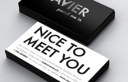 Javier - edge painted business card