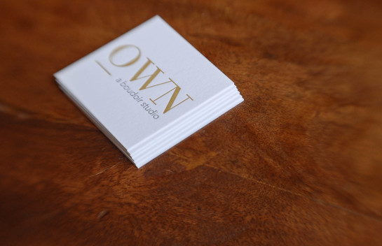 OWN - minimal business cards