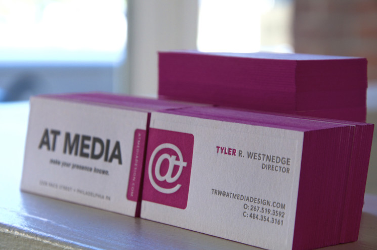 At Media - edge painted business cards