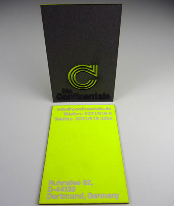 Die Continentale - laser cut business cards