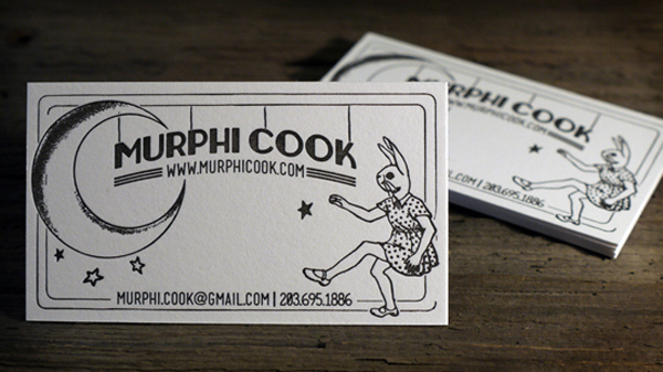 Murphi Cook - letterpress business cards