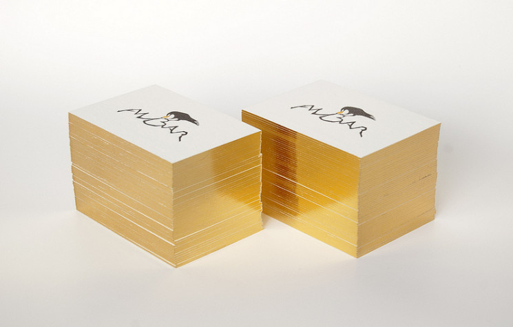 Ambar - edge painted business cards