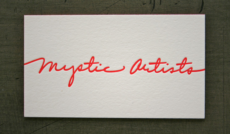 Mystic Artists - edge painted business cards