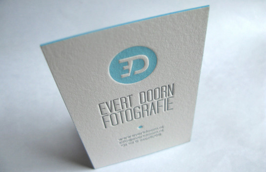Evert Doorn - letterpress business cards