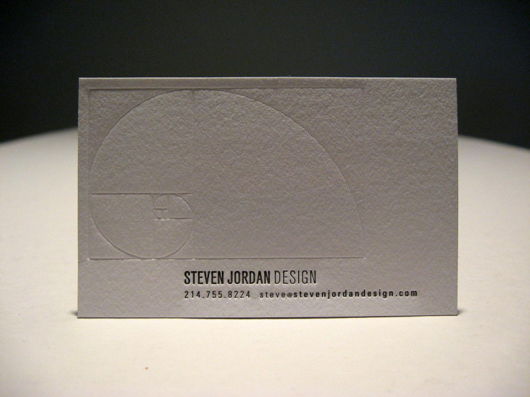 Steven Jordan - letterpress business cards