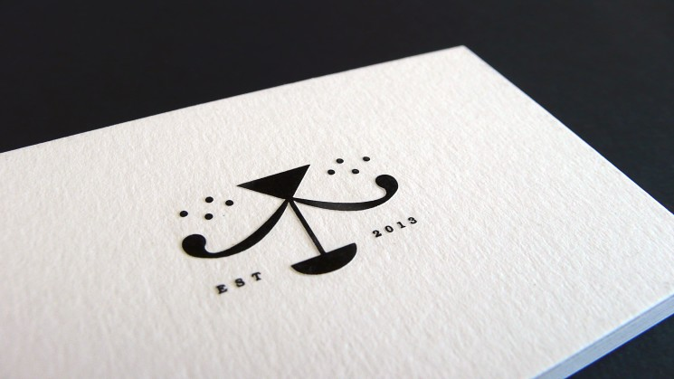 Black Mongrels - embossed business card