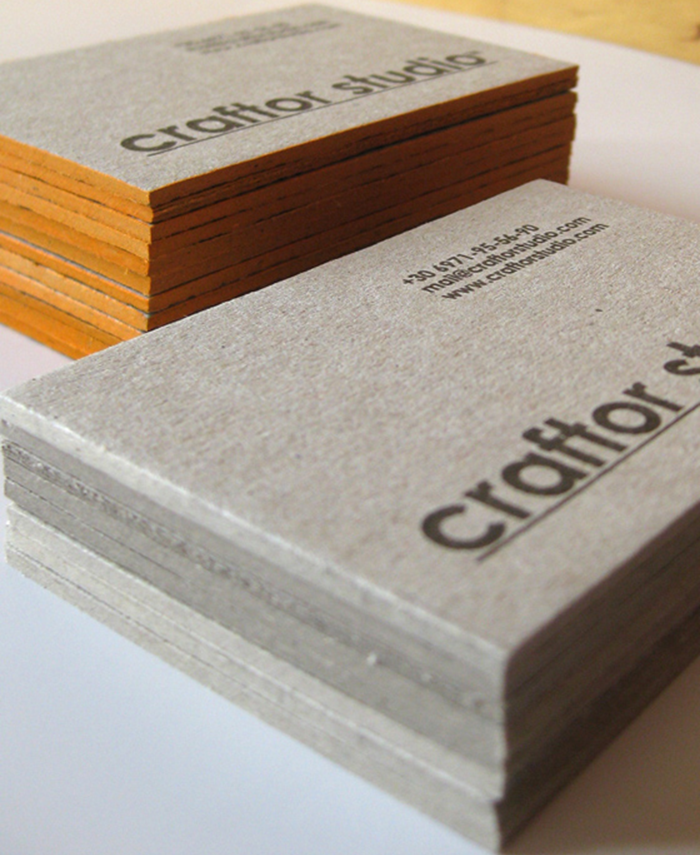 Craftor Studio - edge painted business cards