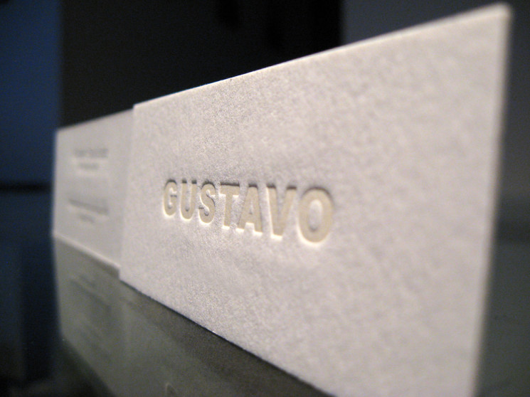 Gustavo - letterpress business card