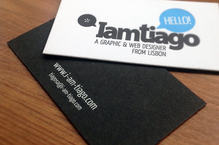 IamTiago - duplexed business cards