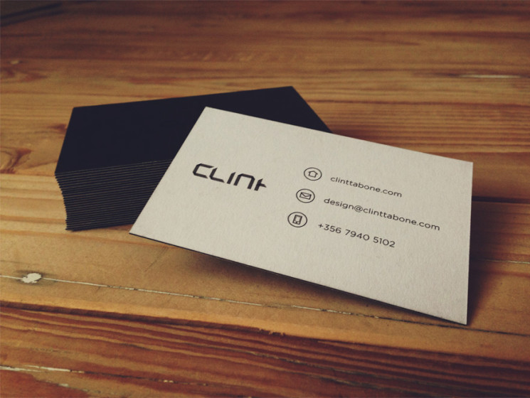 Clint Tabone - minimalist business cards