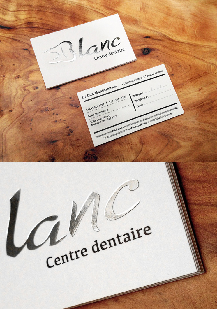 Blanc - foil business cards