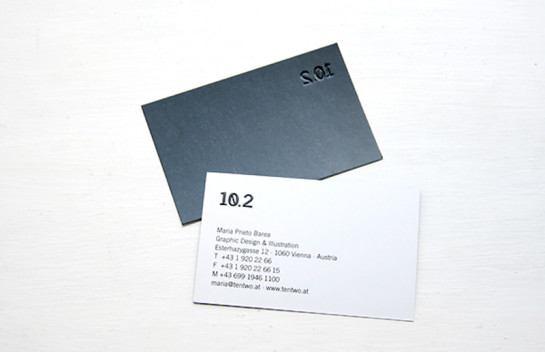 10.2 - embossed business cards