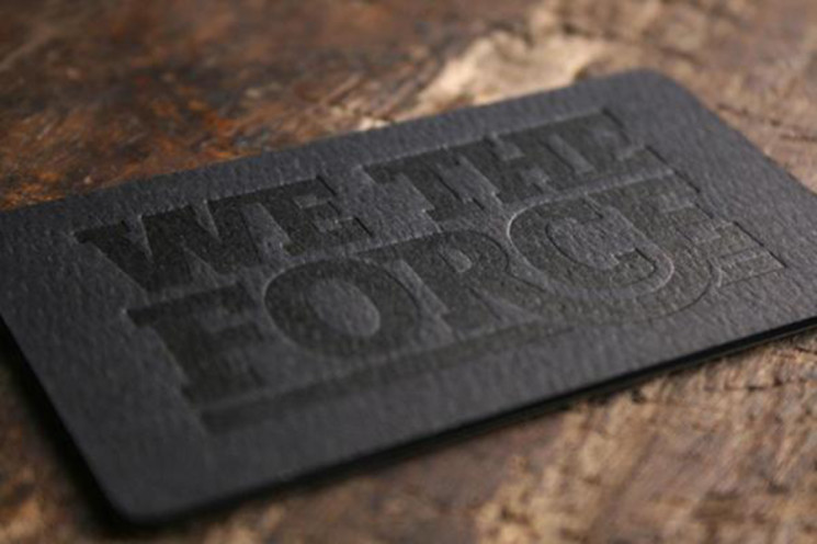 We The Force - letterpress business cards