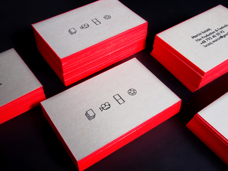 Fluo - edge colored business cards